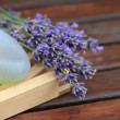 Foto Stock: Lavender and soap
