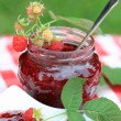 Raspberry jam - Stock Photo