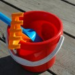 Bucket of toys for the sandbox — 图库照片