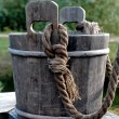 Wood bucket — Stock Photo