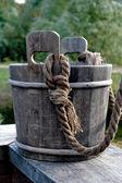 Wood bucket — Stock Photo