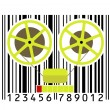 Stock Vector: Vintage recorder from bar-code