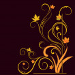 Royalty-Free Stock Vector Image: Floral elements on autumn theme