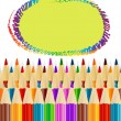 Royalty-Free Stock Vector Image: Background with colored pencils