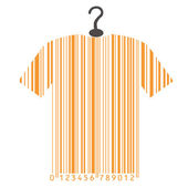 Shirt as barcode — Stock Vector