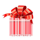 Gift stylized with bar-code — Stock Vector