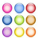 Glossy balls — Vector de stock