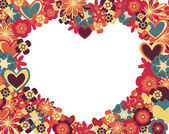 Heart of flowers — Vector de stock
