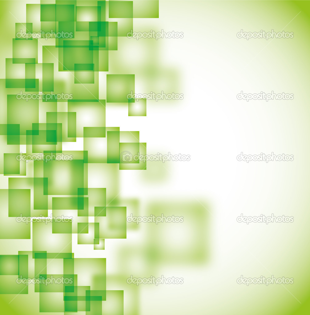 Abstract green square background eps10  Stockvektor #3749946