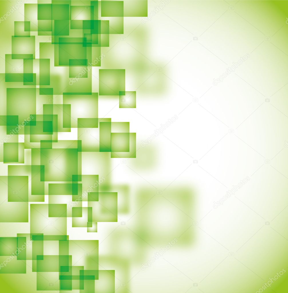Abstract green square background eps10 — ベクター素材ストック #3749946