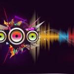 musik-vinkavektorn — Stockvektor