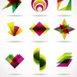 éléments de dessin abstrait — Vecteur