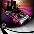 Stock Vector: Dj musical poster