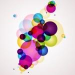 arrière-plan de couleurs abstraites — Vecteur