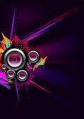 Musical vector with speaker — Stock Vector