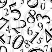 Patrón sin costuras - números — Vector de stock