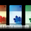 Set of colorful business cards. maple le — Vector de stock #2892215