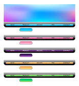 Web navigation templates — Stock Vector