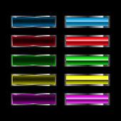 Botones brillante vector — Vector de stock