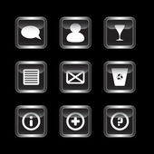 Miscellaneous dark icons set — Stock Vector