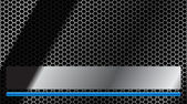 Tarjeta de negocios. estilo de acero. aqua azul — Vector de stock