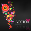 Abstract background. Colored bubbles — Imagen vectorial