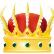The crown — Imagen vectorial
