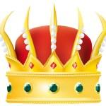 de kroon — Stockvector