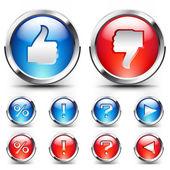 Vector coloridos botones para diseño web. — Vector de stock