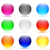 Glass abstract shiny buttons. Set of web buttons — Stock Vector