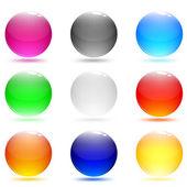 Vidrio abstracta botones brillantes. conjunto de botones web — Vector de stock