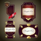 Royal labels set — Stock Vector
