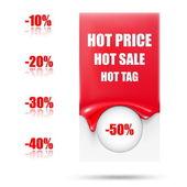 Etiqueta venta abstracta. etiqueta en blanco caliente — Vector de stock