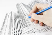 Drawing a new home — Stock Photo