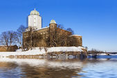 Flood at the old castle — Stock Photo