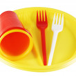 Plastic plates and forks — Stock Photo #3149286