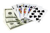 Poker money — Stock Photo