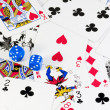 Royalty-Free Stock Photo: Playing cards and dice