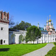 The Gate Church and the wall of the Novodevichy Convent - Stock Photo