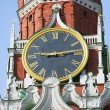 Kremlin chimes of the Spassky Tower - Stock Photo