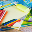 Supplies for school - Stock Photo