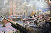 "Diorama ""The siege of Leningrad"" — ストック写真"