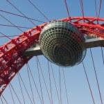 Modern suspension bridge — Stock Photo #3823701