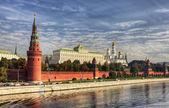 View of the Kremlin Embankment — Stock Photo