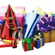 Royalty-Free Stock Photo: Christmas decoration of balloons and gifts