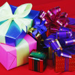 Bright Christmas gifts — Stock Photo