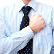 BusinessmLawyer with hand on heart — Stockfoto #2740273