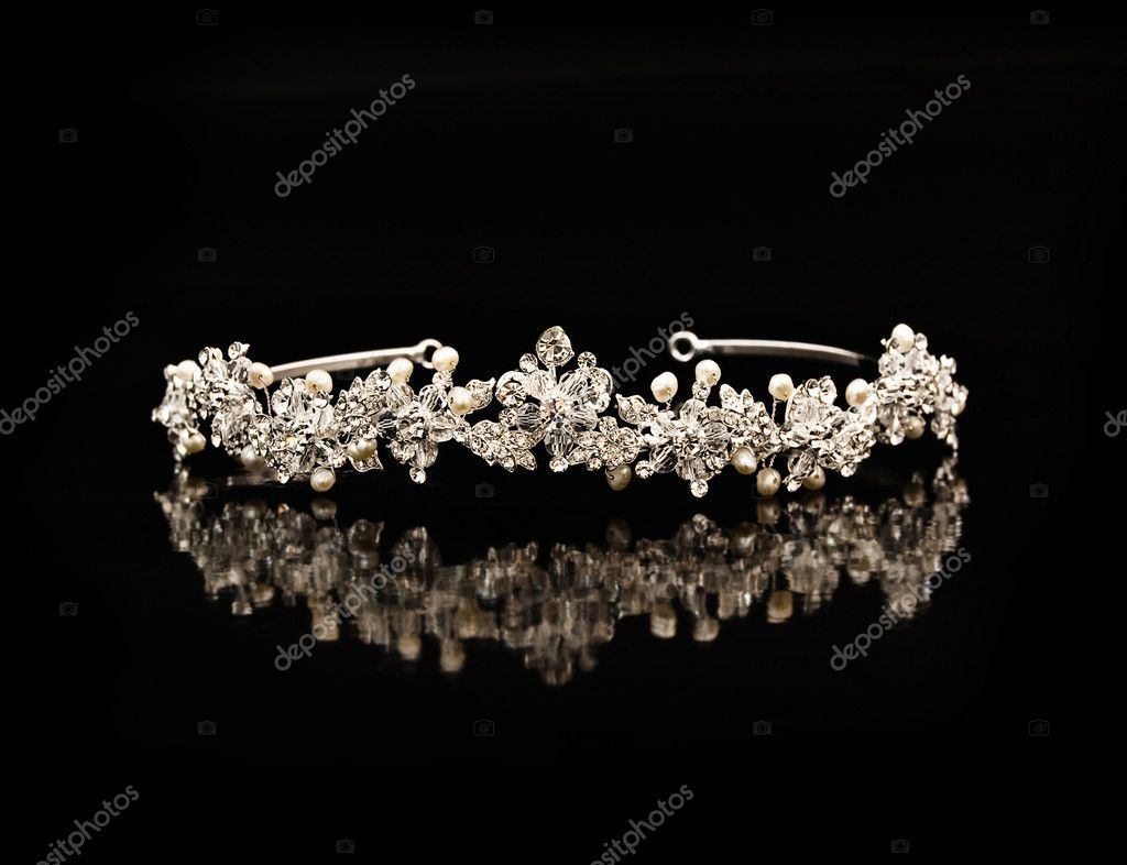 Diamond diadem on a black background with reflexion  Stock Photo #2755599