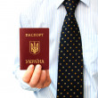 The passport for travel - Stock Photo