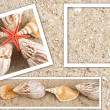 Background in the form of sand and shell — Stock Photo #2821179